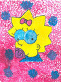 Die Simpsons - Dot Painting, Nele Otte, Klasse 4