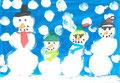 Weihnachtskarte, Leonie Knöll, Klasse 4