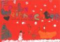 Weihnachtskarte, Nele Otte, Klasse 3