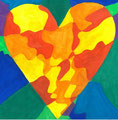 Heart nach Jim Dine, Lilly Weikinger, Klasse 7