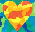 Heart nach Jim Dine, Mahdi Masruri, Klasse 7