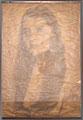 Fonds privés. Originale. Cette image était entièrement couverte de vaguelettes, ce qui la rendait impossible à numériser. Plusieurs prises de vue ont été faites pour éviter que les ombres des vaguelettes n'interfèrent avec les traits du visage.