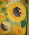 Sonne besucht Blume    100x80cm   Öl auf Leinwand     1.000€