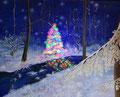 © Weihnacht im Wald   Öl und Acryl auf Leinwand   80x100cm     280€