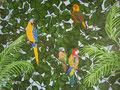©   Papageien zuhause   Ölbild   1.000€