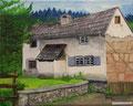 © Eifelgehöft im Ahrtal   in Öl auf Leinwand  40x50cm   1.100€