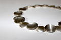 Schalenkette; ein absoluter Hingucker, 925er Silber, handgeschmiedet, L.: ca. 49 cm