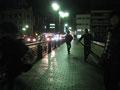 夜中に京都の街を皆で走りました。楽しかったー!