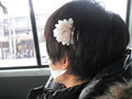 桜を付けたかわいこちゃんは誰でしょう