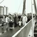 Foto: Main Post Archiv, Übergabe der Pylonbrücke durch OB. Dr. Zeitler am 17.4.89