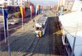 Foto: Archiv WVV, neben den Geleisen, an der Haltestelle Straßb. Ring, wurde ein Zelt aufgestellt