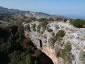 Drone photo of the cave during a practise of the Special Search and Rescue Unit of Corfu (EMED).