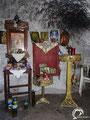Inside the Agios Stylianos cave church.