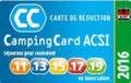 Camping Card Acsi acceptée : 15 € / nuit hors saison pour 2 oersonnes avec électricité