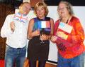 François avec nos deux orateurs Régine et Linda