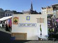 Wand op de markt