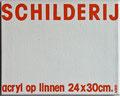 Schilderij. 24x30cm