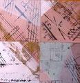 Inspirações Musicais II / Técnica mista sobre madeira 30 x 30 cm / Mixed media on board 30 x 30 cm