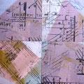 Inspirações Musicais I / Técnica mista sobre madeira 30 x 30 cm / Mixed media on board 30 x 30 cm
