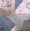 Inspirações Musicais III / Técnica mista sobre madeira 30 x 30 cm / Mixed media on board 30 x 30 cm