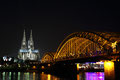 Hohenzollern Bridge, Cologne Cathedral, Koln, Germany