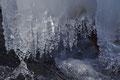 Eis im Brühlbach Uracher Wasserfall