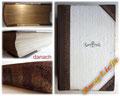 Buchreparatur - Bild 2/2 danach - Buchrücken erneuert und ergänzt - Cover und Schnitte gereinigt - Goldschnitt gefunden - lose Seiten befestigt