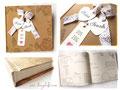 Mit Wunsch-Layout bedruckte Seiten eines Gästebuches.