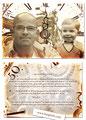 Individuelle Einladungskarte zum 50. Geburtstag im Postkartenformat