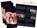 Folder 4-seitig, 105 x 210mm, 4/4-farbig, 350 g/m² Bilderdruck glanz
