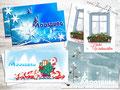 Weihnachtskarten mit Firmenlogo