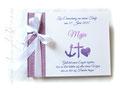 Fotogästebuch Taufe Glaube Liebe Hoffnung violett weiß
