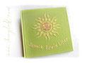 Gästebuch zur Taufe mit Taufsymbol in der Sonnenapplikation
