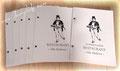 Individuell bedruckter Softcover-Einband genietet - Allergen-Karte
