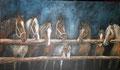 """""""Les huits compagnons » : Peinture à l'acrylique - format 40x70 cm – 200 €"""