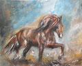 Trot 2 - peinture acrylique - format 33x41 cm F6 - 99 €