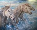 « La dérobade » : Peinture mixte- format 100x81 cm – 750 €