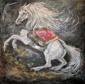 Peinture mixte format 70 x 70 cm - 450 €