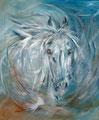« Cheval bleu » : peinture acrylique - format 55x46 cm - 170 €