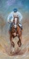 Casaque blanche » : Peinture à l'huile - format 30x60 cm – 240 €