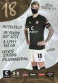 Eric Smith; Rückseite Autogrammkarte: Saison 2020/21 (2. Bundesliga) Variante 2: Rückseite: Schriftzug oben rechts: Mein Verein 111