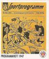 Sticker 134: Programmheft 1947; Sportliche Geschichte; St. Pauli Sammeln! Panini Bilderdienst, Stuttgart
