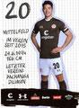 Yiyoung Park; Rückseite Autogrammkarte: Saison 2019/20 (2. Bundesliga)
