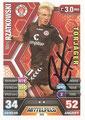 Trading Card 545 mit Orginalunterschrift: Marc Rzatkowski; Topps Match Attax Extra 2014/2015; Topps