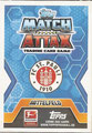 Trading Card 545: Rückseite Trading Card; Topps Match Attax Extra 2014/2015Trading Card 545: