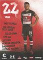Cenk Sahin; Rückseite Autogrammkarte: Saison 2017/18 (2. Bundesliga)