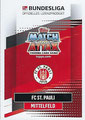 Trading Card 600: Rückseite Trading Card; Topps Match Attax Extra 2020/2021; Topps