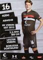 Mac Horndchuh; Rückseite Autogrammkarte: Saison 2018/19 (2. Bundesliga)