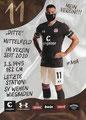 Maximilian Dittgen; Rückseite Autogrammkarte: Saison 2020/21 (2. Bundesliga)