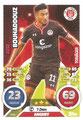 Trading Card 595: Aziz Bouhaddouz; Topps Match Attax Extra 2016/2017; Topps